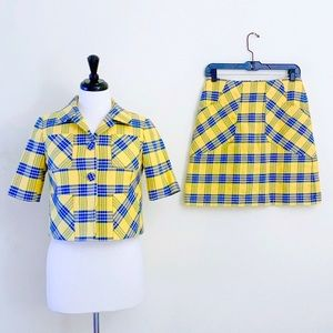 Brooks Brothers Yellow and Blue Plaid Suit